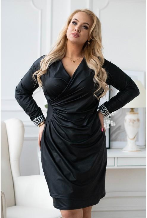 Czarna sukienka xxl Palima