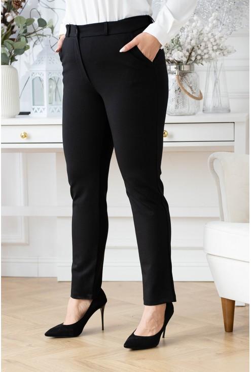 czarne eleganckie spodnie xxl