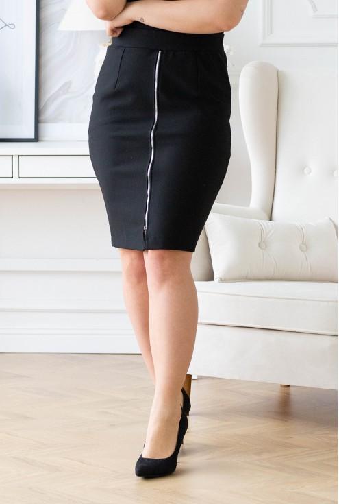 dzianinowa spódnica plus size