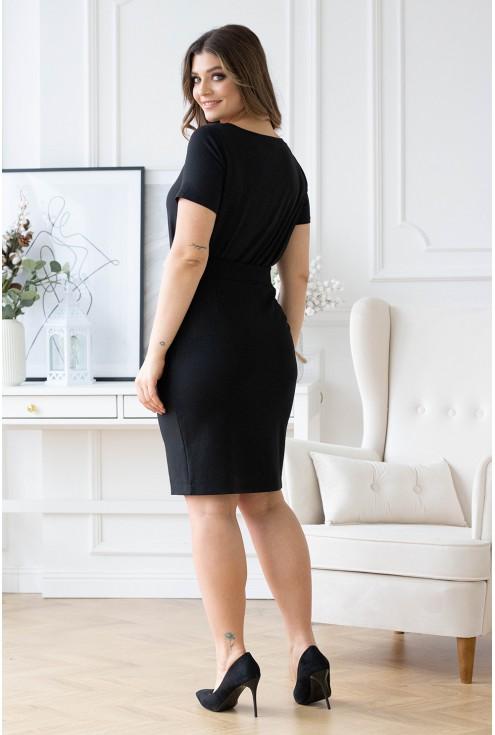 czarna spódnica dzianinowa