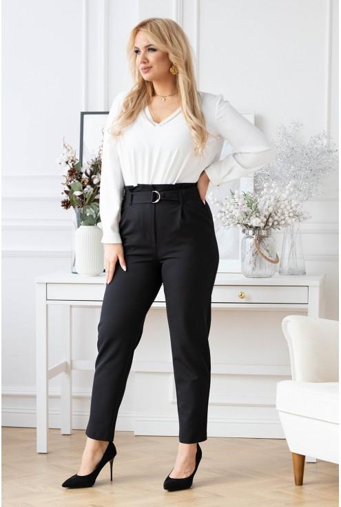 czarne spodnie plus size