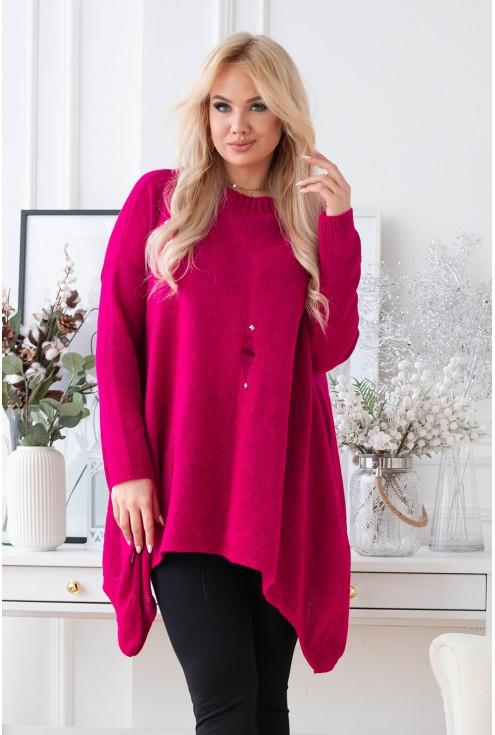fuksjowy sweter Merlin xxl