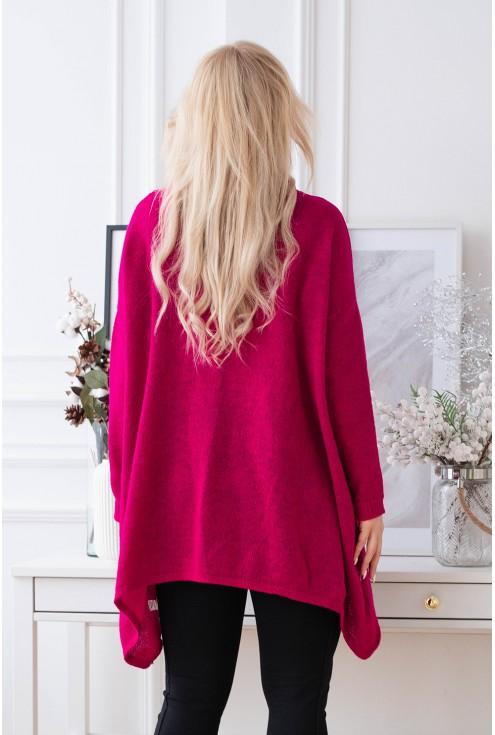 tył swetra merlin w kolorze fuksji