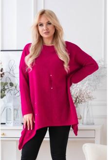 Fuksjowy sweter Merlin