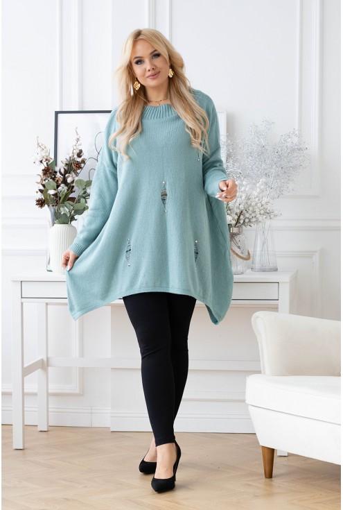 ciepły luźny sweter Merlin