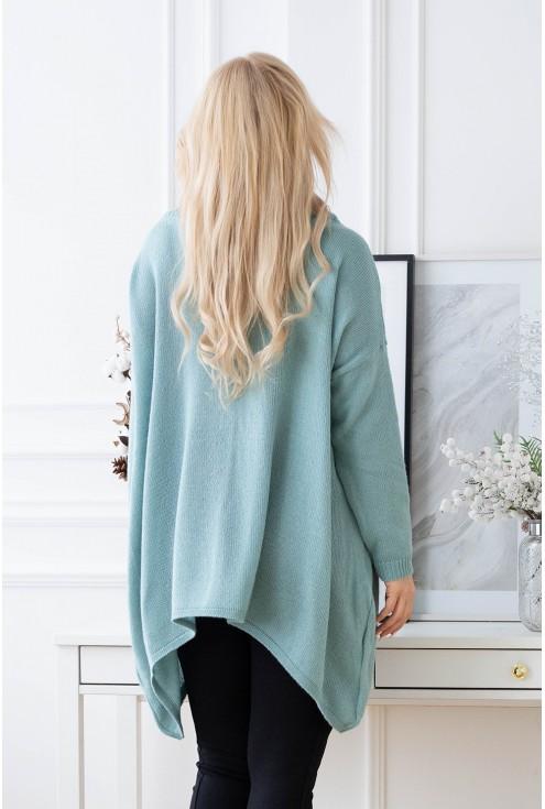 tył swetra w kolorze morskim