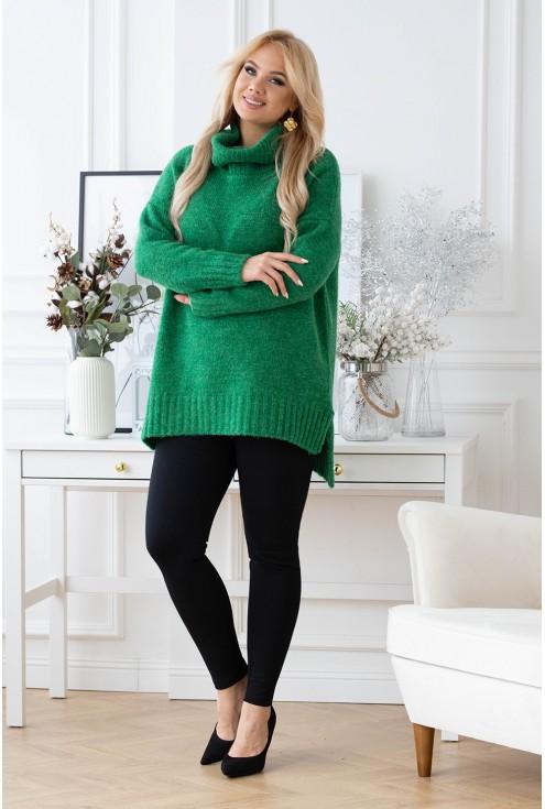 miękki sweter z golfem Lesca