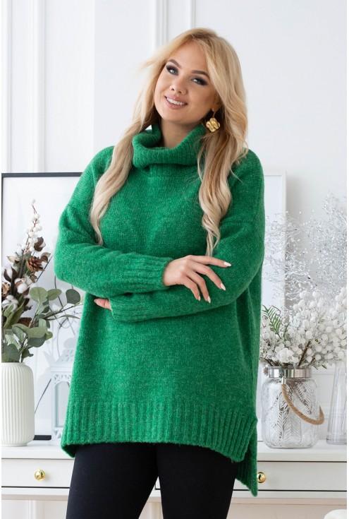 oversizowy zielony sweter Lesca
