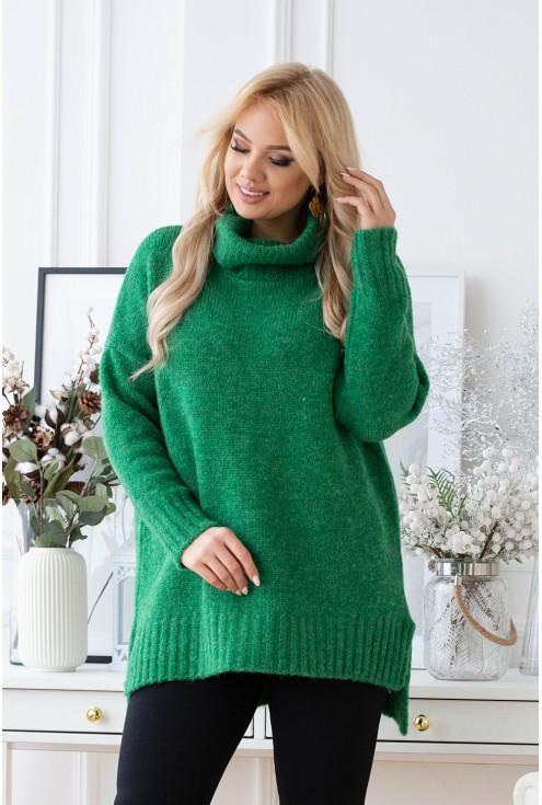 ciepły sweter z golfem xxl
