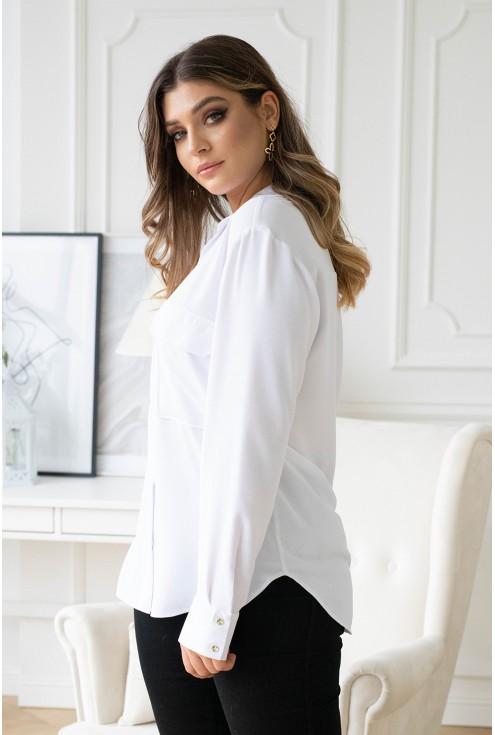 biała koszula zapinana xxl