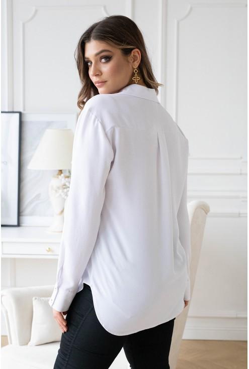 biała elegancka koszula xxl - tył