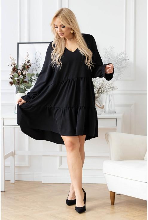 Oversizowa czarna sukienka Christine