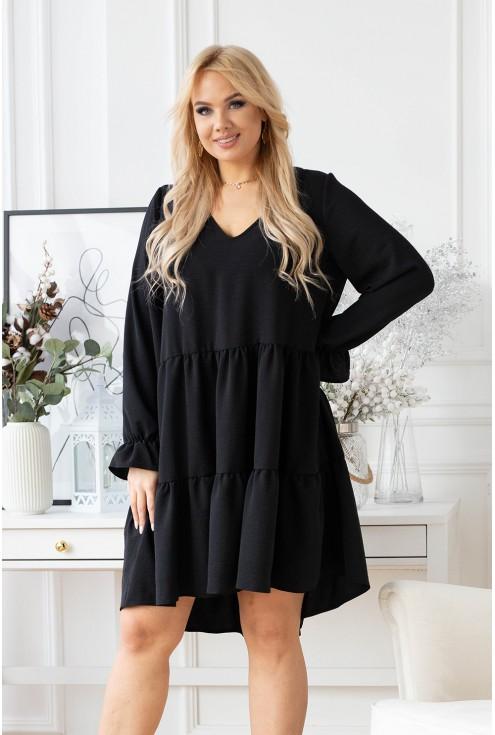 Czarna luźna sukienka xxl