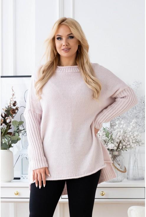 Pudrowy sweter Darcy xxl