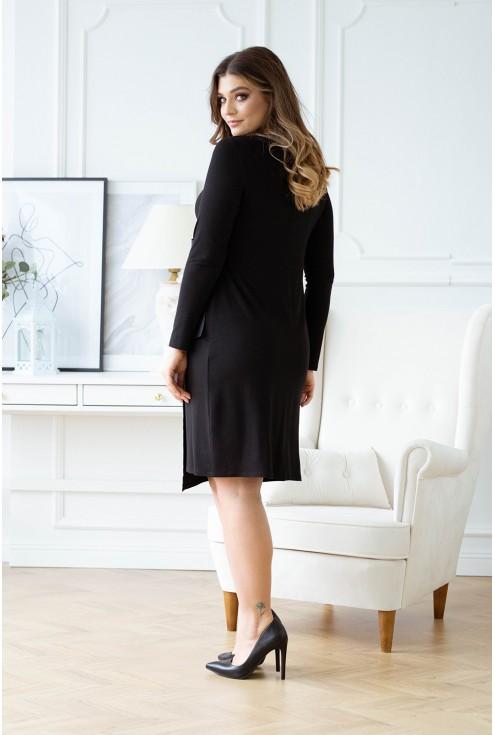 Tył czarnej sukienki xxl Manuela