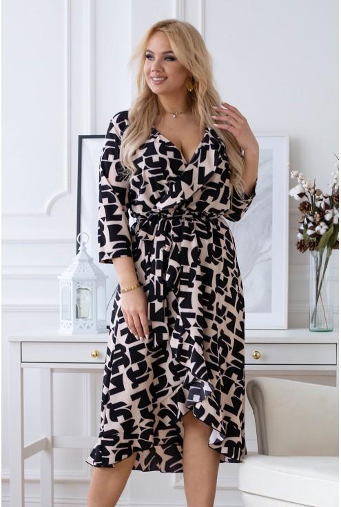 beżowa sukienka Liliane