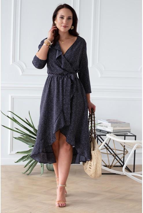 kobieca sukienka asymetryczna xxl