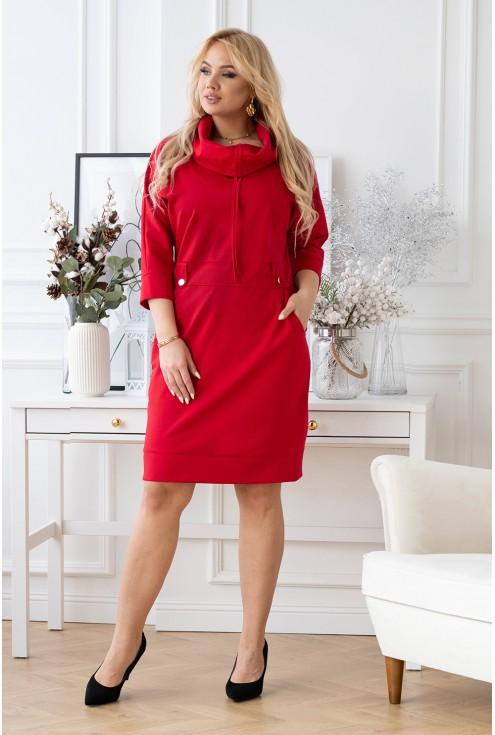 modna sukienka xxl z półgolfem