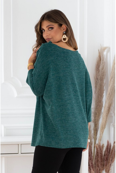 tył butelkowego sweterka xxl