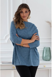 jeansowy sweterek plus size xxl
