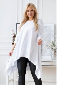 biała tunika  z dłuższymi bokami