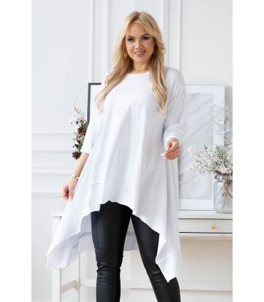 Biała asymetryczna bluzka/tunika - HARPER