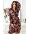 Wzorzysta sukienka z długimi rękawami - CILIA