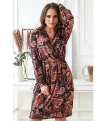 Wzorzysta sukienka ołówkowa plus size z długimi rękawami - CILIA