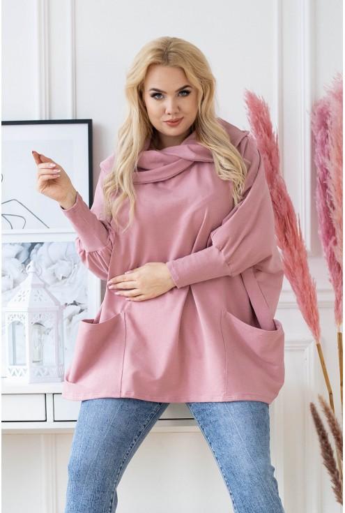 brudnoróżowa bluza xxl