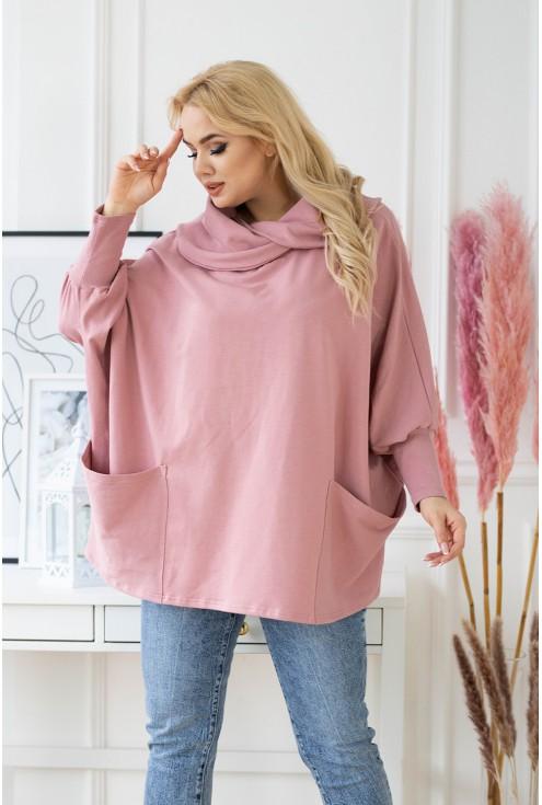 szeroka różowa bluza xl