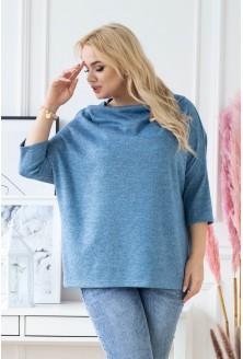 niebieski sweterek-bluza xxl