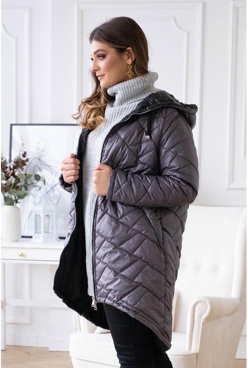 modna kurtka pikowana xxl
