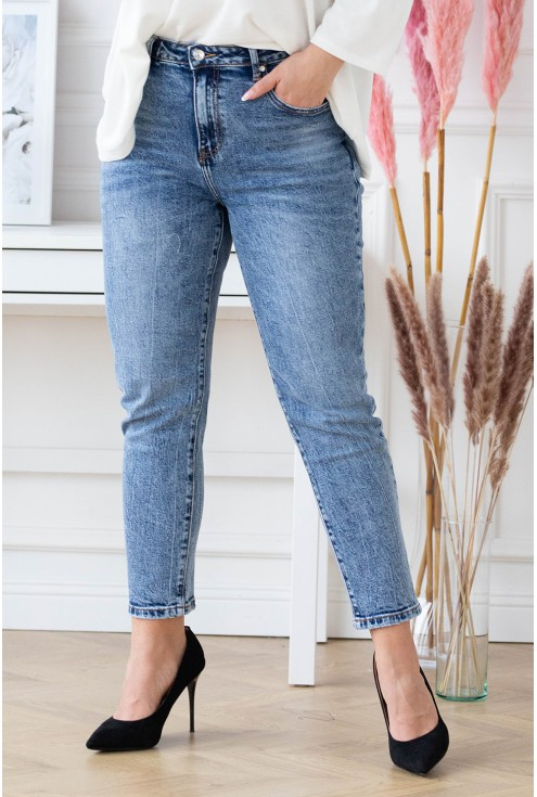 niebieskie jeansy xxl
