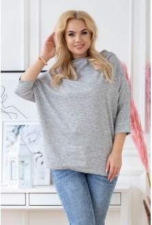 Oversize szary sweterek xxl
