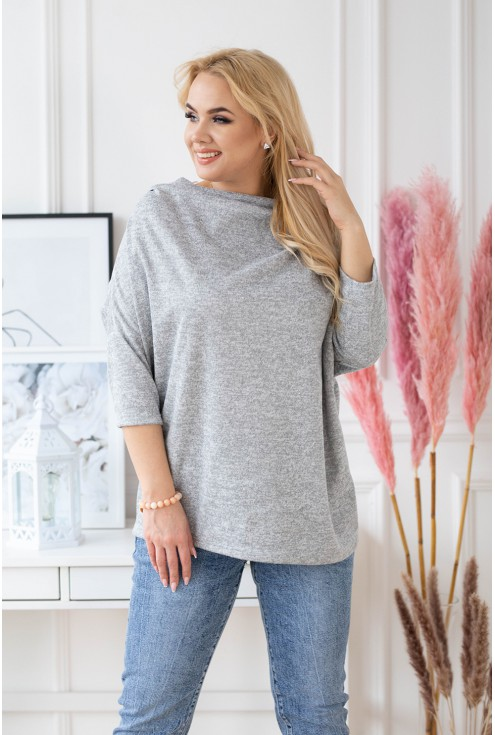 Luźny SZARY sweterek CLARISSA