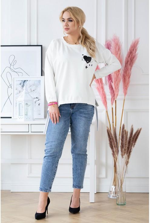 Luźna biała bluza XXL