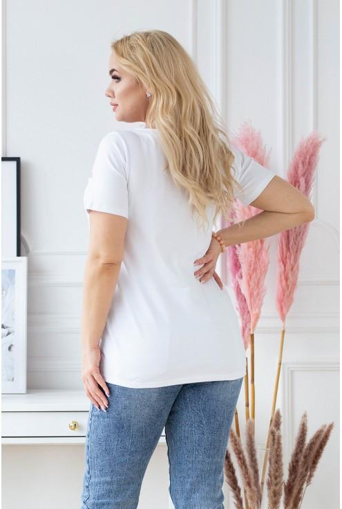 tył białego t-shirtu Sasha
