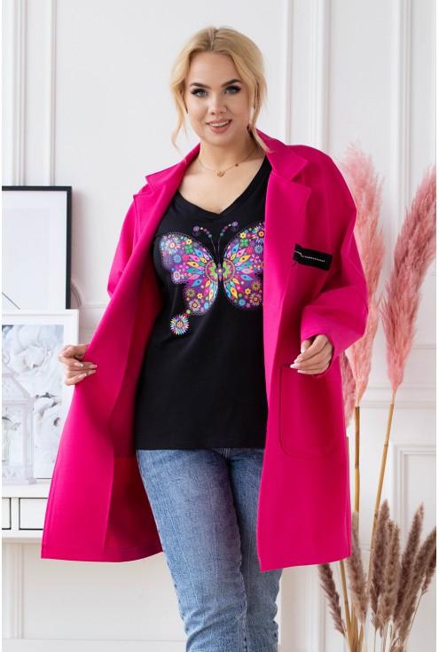 elegancki płaszcz plus size