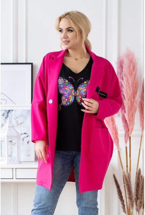 elegancki płaszcz z długim rękawem do kupienia w dużych rozmiarach