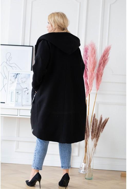 płaszczyk xxl w kolorze czarnym