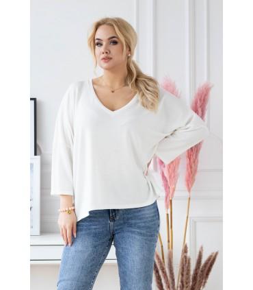 Kremowy cienki sweterek plus size - ENRICA