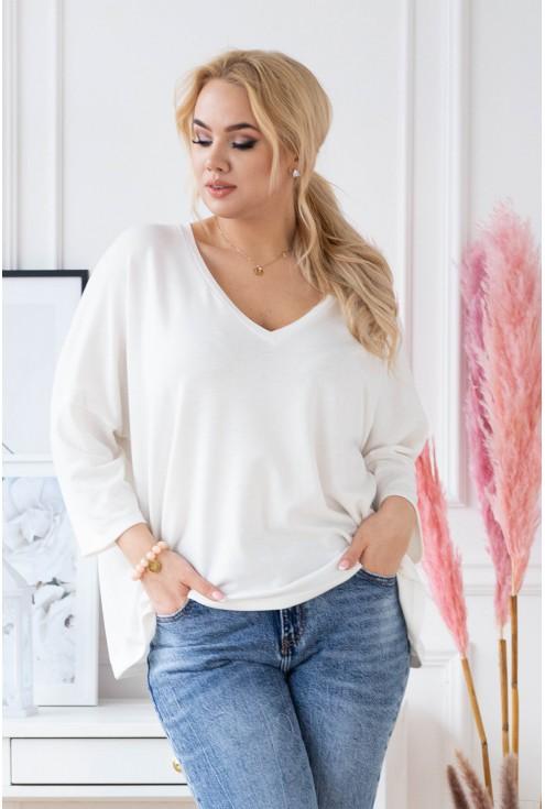sweterek plus size z długim rękawem
