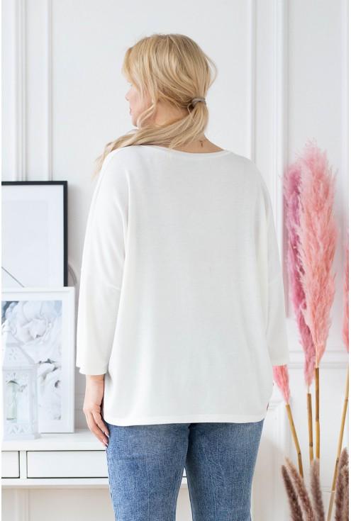 tył białego sweterka ENRICA