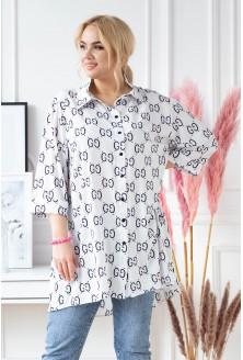 Biała koszula tunika plus size XL-ka.pl