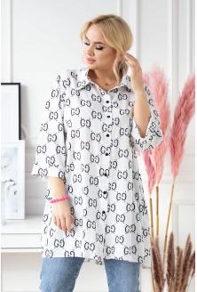 koszula z czarnym wzorem rosalie xxl