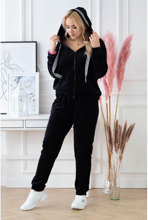czarny komplet dresowy do kupienia w dużych rozmiarach