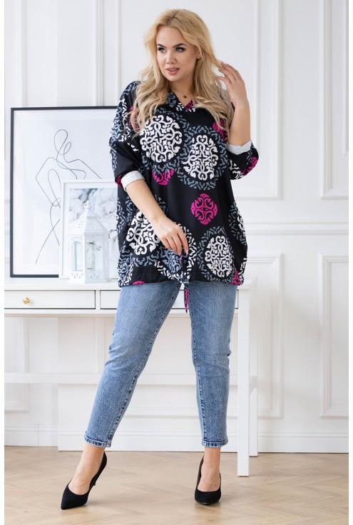 bluzka z kapturem duże rozmiary plus size sklep XL-ka.pl