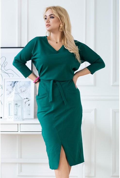 modna ołówkowa sukienka plus size