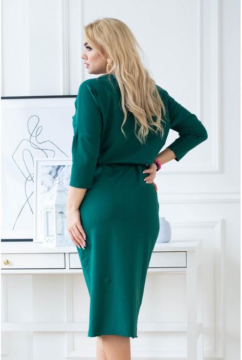 modna sukienka XXL - tył