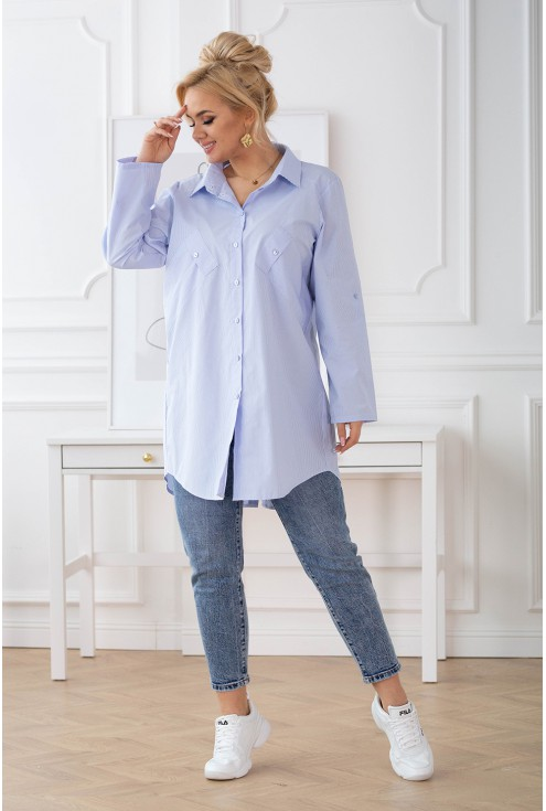 długa tuniko-koszula dla puszystych